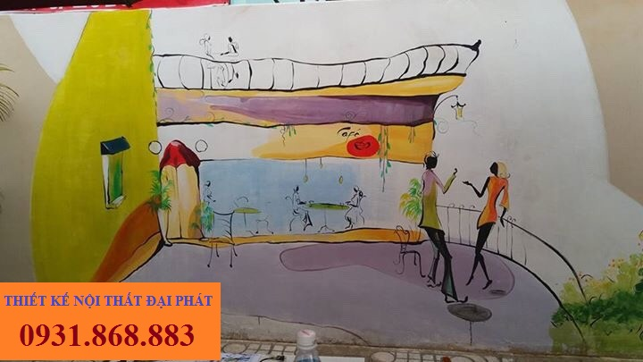 ve tranh tuong cho quan cafe 9